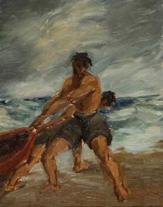 «Ο ψαράς», 1935, ελαιογραφία.